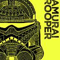 Stormtrooper Helmet - Yellow - Star Wars Art by Studio Grafiikka