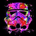 Stormtrooper Mask Rainbow 10 by Del Art