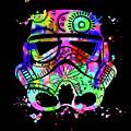 Stormtrooper Mask Rainbow 6 by Del Art