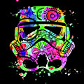 Stormtrooper Mask Rainbow 8 by Del Art