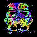 Stormtrooper Mask Rainbow 9 by Del Art