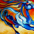 Stormy An Equine Abstract Southwest by Marcia Baldwin