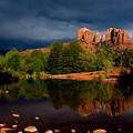 Stormy Day At Cathedral Rock by David Sunfellow