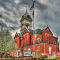 Stormy Day Jones County Georgia Court House Art by Reid Callaway