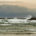 Stormy Fishing by Deborah Benoit