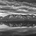 Stormy Lake Tahoe Black And White by Mitch Shindelbower