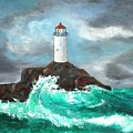 Stormy Ligthouse by Paul O Shaskan