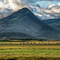 Stormy Majestic Iceland Mountain At Sunset by Dave Dilli