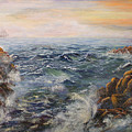 Stormy Pacific by Lucille  Owen-Huston
