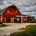 Stormy Red Barn by Ron Pate