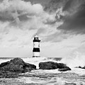 Stormy Seas Black And White by Christine Smart