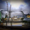 Stormy Seas - Ship In A Bottle by Bill Barber