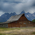 Stormy Skies Over Moulton Barn by Marie Leslie