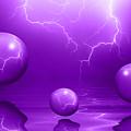 Stormy Skies - Purple by Shane Bechler
