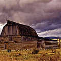 Stormy Sunset At Moulton Barn by Brian Kerls