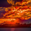 Stormy Sunset by Roger Monahan