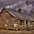 Stormy Times Tenant House Greene County Georgia Art by Reid Callaway