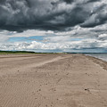 Stormy Weather Over Tentsmuir Beach In Scotland by Jeremy Lavender Photography