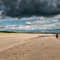 Stormy Weather Over The Beach In Scotland by Jeremy Lavender Photography
