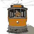 Story Of The Trolley - Vintage Americana by Mark E Tisdale