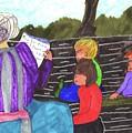 Story-time On Grand Mom's Porch by Elinor Helen Rakowski