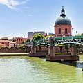 St.pierre Bridge In Toulouse by Elena Elisseeva