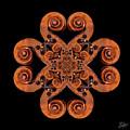 Stradivarius Scroll Mandala by Endre Balogh