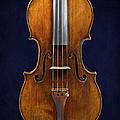 Stradivarius Violin Front Closeup by Endre Balogh