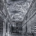 Strahov Monastery Philosophical Hall Bw by C H Apperson