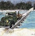 Stranded On Rockford Bridge by Penny Everhart