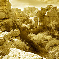 Strange Rock Formations At El Torcal Near Antequera Spain by Mal Bray