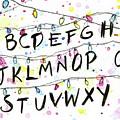 Stranger Things Alphabet Wall Christmas Lights by Olga Shvartsur