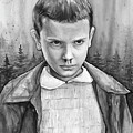 Stranger Things Fan Art Eleven by Olga Shvartsur