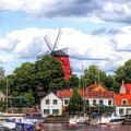 Windmill In Strangnas Sweden by Barry King
