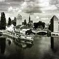 Strasbourg. View From The Barrage Vauban. Black And White by Gerlya Sunshine