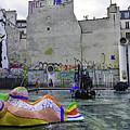 Stravinsky Fountain Near Centre Pompidou In Paris, France by Richard Rosenshein