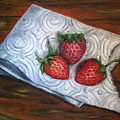 Strawberries-3 Contemporary Oil Painting by Natalja Picugina