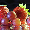Strawberries And Grapes by Angela Murdock