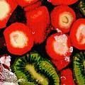 Strawberries And Kiwi by Sarah Loft