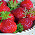 Strawberries From The Garden by Sharon Talson