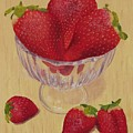 Strawberries In Crystal Dish by Nancy Nale