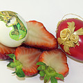 Strawberry And Easter Eggs by Elvira Ladocki