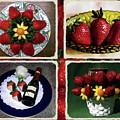 Strawberry Collage by Sally Weigand