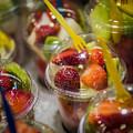 Strawberry Desert - La Bouqueria - Barcelona Spain  by Jon Berghoff