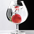 Strawberry in a Glass by Oleksiy Maksymenko