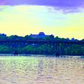 Strawberry Mansion Bridge Across The Schuylkill River by Bill Cannon