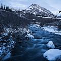 Mountain Stream In Twilight by Tim Newton