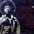 Street Art - Jimmy Hendrix by Mia DeBolt