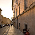 Street At Sundown In Assisi by Ian Middleton