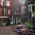 Street Cafe Mooy In Amsterdam by Ginger Wakem